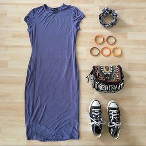 American Dream bodycon t-shirt midi dress blue L